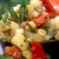 Farmers' Market Roasted Vegetable Salad-Stuffed Avocados Recipe