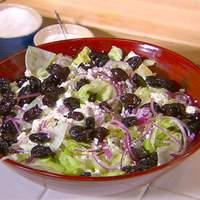 Feta, Black Olive, and Oregano Salad (aka Pizza Parlor Salad) Recipe