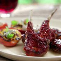Fire Roasted Baby Lamb Chops with Smoked Paprika-Orange BBQ Sauce Recipe