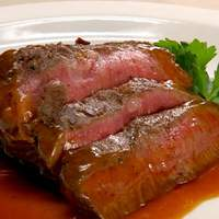 Flatiron Steak with Herbed Red Bliss Potatoes, Red Onion Marmalade and Red Wine Demi-Glace Recipe