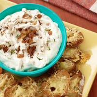 French Onion Dip with Gruyere Toasts Recipe