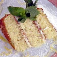 Fresh Coconut Cake with a Lemon Cream Cheese Filling and Boiled Icing Recipe