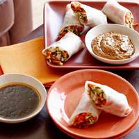 Fresh Vegetable Spring Rolls with Two Dipping Sauces Recipe