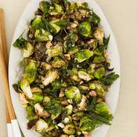 Fried Brussels Sprouts with Walnuts and Capers Recipe