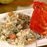 Fried Green Tomatoes with Lobster and Tear Drop Tomato Salad Recipe