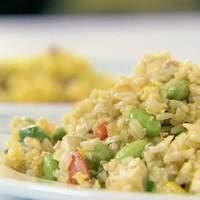 Fried Rice with Scallions, Edamame and Tofu Recipe