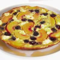 Frittata with Peaches and Cherries Recipe