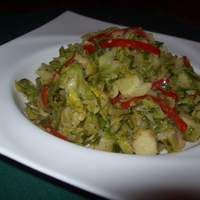 Garlicky Brussels Sprouts Saute Recipe