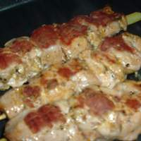 Garlicky Chicken or Pork Souvlaki Recipe