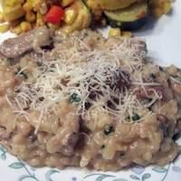 Garlicky Pork and Mushroom Risotto Recipe