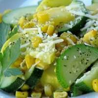 Garlicky Summer Squash and Fresh Corn Recipe