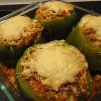 Green Bell Peppers stuffed with Tomato Lentil Couscous Recipe