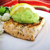 Grilled Salmon with Avocado Dip Recipe