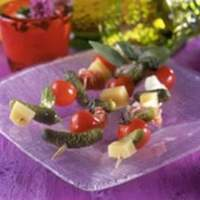 Ham and Cheese Skewers with Crunchy Maille® Cornichons Recipe