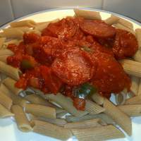 Healthy Pasta With Pepperoni and Bell Peppers Recipe
