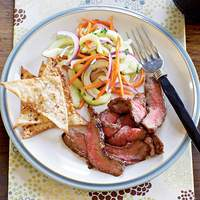 Hoisin Flank Steak with Asian Cucumber Salad Recipe