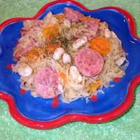 Kielbasa With Sauerkraut, Carrots, White Beans and Dill Recipe