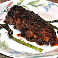 Korean-Style Marinated Skirt Steak With Grilled Scallions Recipe