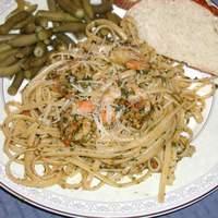 Linguini with Shrimp and Tomato Hazelnut Pesto Recipe