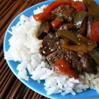 Maria's Pepper Steak Recipe