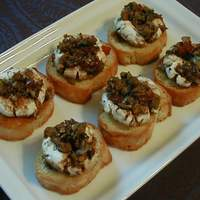 Marinated Goat Cheese Rounds With Crostini Recipe