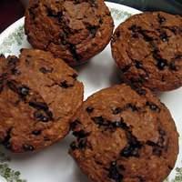 Molasses Oatmeal Chocolate Chip Muffins Recipe