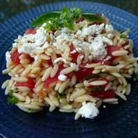 Orzo and Tomato Salad with Feta Cheese Recipe