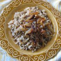 Palestinian Lentils and Rice With Crispy Onions Recipe