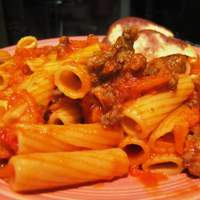 Pasta With Sausagemeat and Carrots Recipe