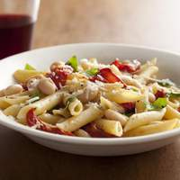 Penne with Roasted Tomatoes, Garlic, and White Beans Recipe