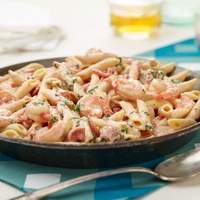 Penne with Shrimp and Herbed Cream Sauce Recipe