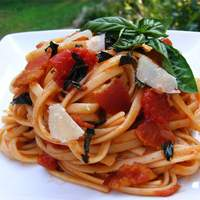 Peppered Bacon and Tomato Linguine Recipe