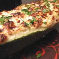 Pepperoni Stuffed Zucchini Recipe