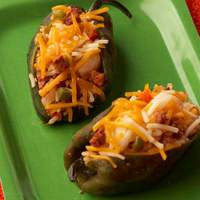 Poblano Stuffed with Chorizo, Shrimp and Rice Recipe