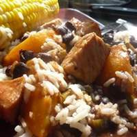 Pork with Peach and Black Bean Salsa Recipe