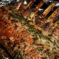 Rack of Lamb with Minted Pea Puree Recipe