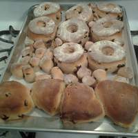Raisin-Cinnamon YEAST Doughnuts Recipe