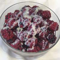 Raspberries and Sweetened Condensed Milk Recipe