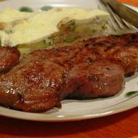 Rib Eye Steaks with a Soy and Ginger Marinade Recipe