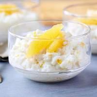 Rice Pudding with Vanilla Bean, Orange and Rum Recipe