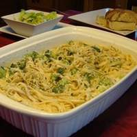Ricotta Fettuccine Alfredo with Broccoli Recipe