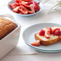 Ricotta Orange Pound Cake with Strawberries Recipe