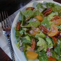 Romaine With Oranges and Pecans Recipe