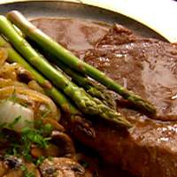 Rump Steaks Braised with Mushrooms and Onions and Porter Sauce Recipe