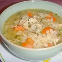 Scarborough Fair Chicken Barley Soup Recipe