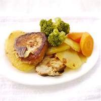 Skillet Pork Chops with Potatoes and Onion Recipe