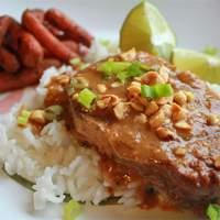 Slow Cooker Thai Peanut Pork Recipe