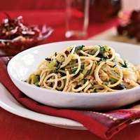Spaghetti Carbonara with Leeks and Pancetta Recipe