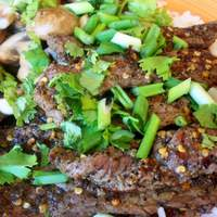 Spiced Beef Stir Fry With Scallions and Cilantro Recipe
