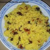 Spiced Couscous With Raisins and Almonds Recipe